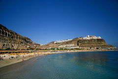 Berühmter '' Playa de Amadores ''. Lizenzfreie Stockfotografie