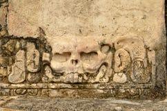 Berühmter Schädel des Stucks mit Augenhöhlen in der alten Stadt von blassem Stockfotografie