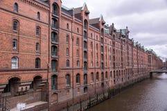 Berühmter Speicherstadt-Lagerbezirk in Hamburg, Deutschland stockfotos