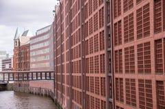 Berühmter Speicherstadt-Lagerbezirk in Hamburg, Deutschland lizenzfreie stockfotos