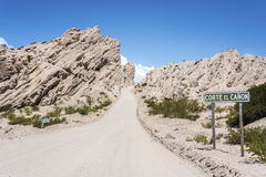 Berühmter Weg 40 in Salta, Argentinien Lizenzfreie Stockbilder