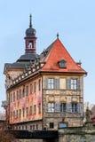 Berühmtes altes Rathaus von Bamberg stockbilder