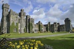 Berühmtes Ashford Schloss, Grafschaft Mayo, Irland. Stockfotografie