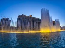 Berühmtes Bellagio-Hotel mit Wasser Lizenzfreie Stockbilder