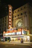 Berühmtes Chicago-Zeichen bei State Street Lizenzfreies Stockbild