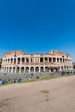 Berühmtes colosseum auf hellem Stockfoto