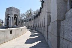 Berühmtes Denkmal des Zweiten Weltkrieges in Washington D C in den USA lizenzfreies stockbild