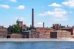 Berühmtes Gefängnis Kresty in St Petersburg, Russland stockbilder