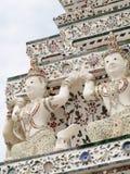 Berühmtes historisches Buddhismus stupa in WAT ARUN-Tempel, BANGKOK, THAILAND Stockfotografie