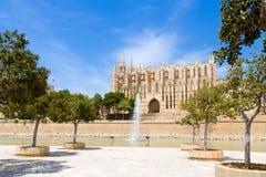 Berühmtes historisches La Seu Cat Palma de Mallorcas der Balearischen Inseln Stockfotografie
