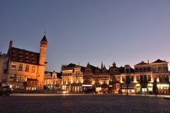berühmtes historisches Vrijdagmarkt-Quadrat Stockbild