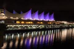 Berühmtes im Stadtzentrum gelegenes Vancouver in der Dämmerung Lizenzfreies Stockfoto
