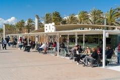 Berühmtes kein balneario 6 auf Mallorca-Insel Stockfotografie