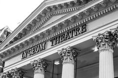 Berühmtes Luceum-Theater in London - Lion King Musical - Das LONDON - GROSSBRITANNIEN - 19. September 2016 Lizenzfreie Stockfotografie