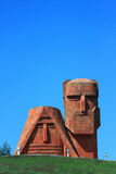 Berühmtes Monument nahe Stepanakert Stockfotografie