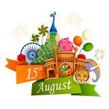 Berühmtes Monument von Indien im indischen Hintergrund für glücklichen Unabhängigkeitstag Lizenzfreie Stockbilder