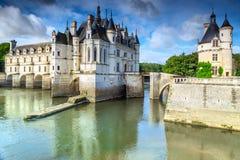 Berühmtes Schloss des Spectacular von Chenonceau, Loire Valley, Frankreich, Europa Stockfotos