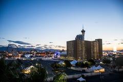 Berühmtes Spielerparadies Las Vegass in Wüste 7 lizenzfreies stockbild