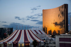 Berühmtes Spielerparadies Las Vegass in Wüste 8 stockbild