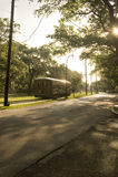 Berühmtes Straßenauto Str.-Charles in New Orleans Stockbilder