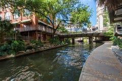 Berühmtes szenisches San Antonio River Walk in Texas stockfotos