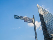 Berühmtes Zeichen bei Postdamer Platz Stockfotos