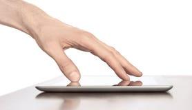 Berühren auf Tablette PC Apple-Ipad Digital Stockbilder