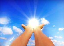 Berühren der Sonne Stockfotos
