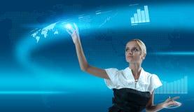 Berühren der Zukunft Lizenzfreies Stockfoto