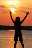 Berühren des Sun Stockbild
