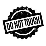 Berühren Sie nicht Stempel Stockfotos