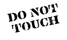 Berühren Sie nicht Stempel Lizenzfreies Stockbild