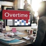 Über die Zeit hinaus hart arbeitend Überlastungs-Konzept Lizenzfreies Stockfoto