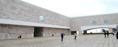 The Berardo Collection Museum in Lisbon. Near The Belem tower of Lisbon city, on the banks of the Tagus river, the Berardo Collection Museum Royalty Free Stock Photography