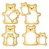 Beras stickers. Illustration - bears, mother and baby set for stickers, promotion or sales. For stores Stock Image