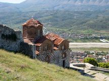 Church of the Holy Trinity with the City of Berat in the Valley Below