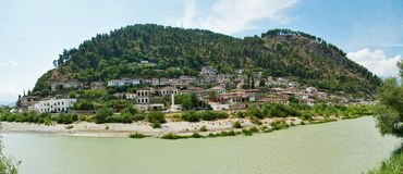 Berat - a city and a municipality located in south-central Albania, and the capital of the County of Berat Stock Photography