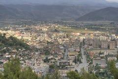 Berat, panorama de l'Albanie Photographie stock libre de droits