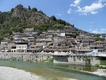 Berat - stad av tusen fönster, Albanien, UNESCO Fotografering för Bildbyråer