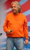 Beraten Sie sich einen üb alten Rocker, einen populären Sänger, Stern der russischen Popmusik von Vyacheslav Malezhik Lizenzfreies Stockbild