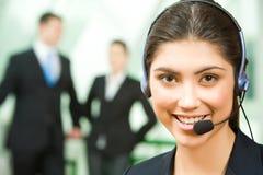 Berater mit Kopfhörer Lizenzfreies Stockbild