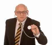Berater mit Stethoskop Stockfoto