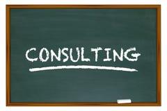 Beratungskreide-Brett-Wort-Berater Training Lizenzfreie Stockbilder
