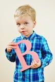Berbeć blondynki chłopiec Fotografia Royalty Free