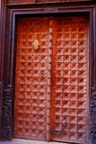 Berber brown moroccan riad door and frame. Marrake Royalty Free Stock Photography