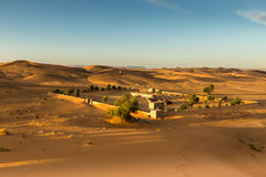 The berber camp in Sahara desert, Morocco Royalty Free Stock Photography