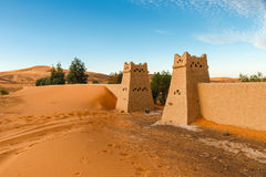 The berber camp in Sahara desert, Morocco Royalty Free Stock Photos
