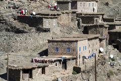 Berber cliff dwellings Royalty Free Stock Photo