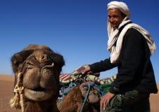 Berber en kameel in detail Royalty-vrije Stock Afbeeldingen