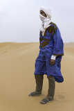Berber guide in sahara desert Stock Images